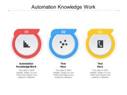 Automation Knowledge Work Ppt Powerpoint Presentation Design Ideas Cpb