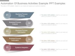 Automation Of Business Activities Example Ppt Examples