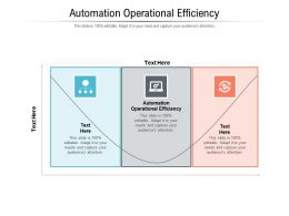 Automation Operational Efficiency Ppt Powerpoint Presentation Portfolio Graphics Cpb