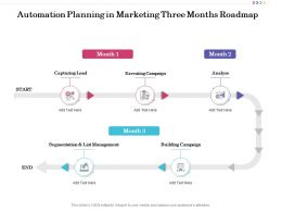 Automation Planning In Marketing Three Months Roadmap