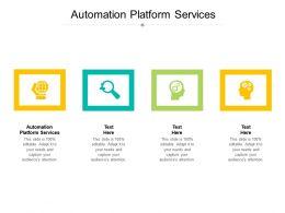 Automation Platform Services Ppt Powerpoint Presentation Portfolio Mockup Cpb