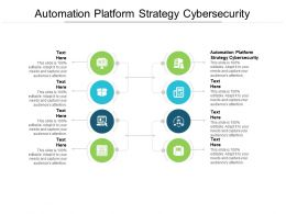 Automation Platform Strategy Cybersecurity Ppt Powerpoint Presentation Infographic Template Display Cpb