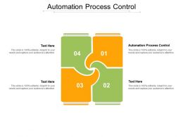 Automation Process Control Ppt Powerpoint Presentation Portfolio Graphic Images Cpb