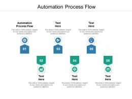 Automation Process Flow Ppt Powerpoint Presentation Infographic Template Gallery Cpb