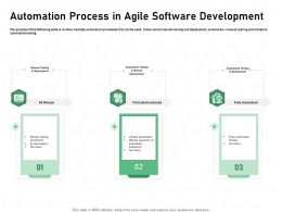 Automation Process In Agile Software Development Automated Ppt Presentation Ideas