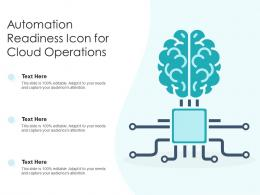 Automation Readiness Icon For Cloud Operations