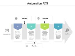 Automation ROI Ppt Powerpoint Presentation Layouts Slide Download Cpb
