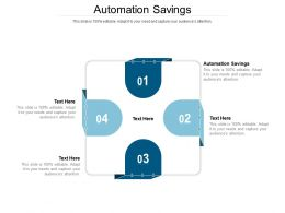 Automation Savings Ppt Powerpoint Presentation Inspiration Examples Cpb