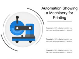 Automation Showing A Machinery For Printing
