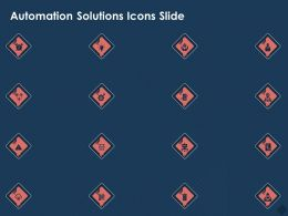 Automation Solutions Icons Slide Ppt Powerpoint Presentation Gallery Visual Aids