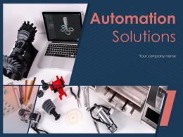 Automation Solutions Powerpoint Presentation Slides