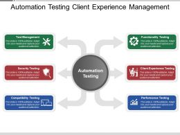 Automation Testing Client Experience Management PPT Sample