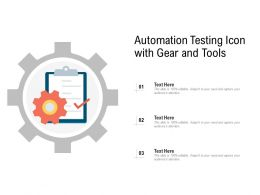 Automation Testing Icon With Gear And Tools