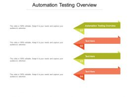Automation Testing Overview Ppt Powerpoint Presentation Outline Graphics Pictures Cpb