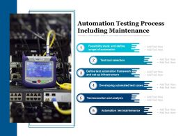 Automation Testing Process Including Maintenance