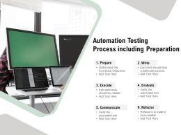Automation Testing Process Including Preparation