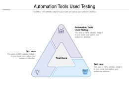 Automation Tools Used Testing Ppt Powerpoint Presentation Inspiration Sample Cpb