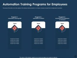 Automation Training Programs For Employees M760 Ppt Powerpoint Presentation Ideas Example