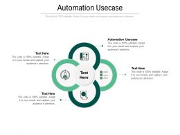 Automation Usecase Ppt Powerpoint Presentation Ideas Show Cpb