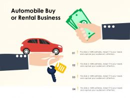 Automobile Buy Or Rental Business