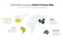 Automobile Company Global Presence Map