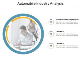 Automobile Industry Analysis Ppt Powerpoint Presentation Ideas Example File Cpb