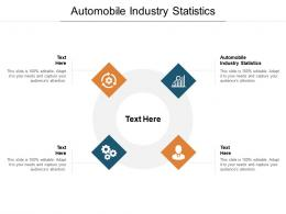 Automobile Industry Statistics Ppt Powerpoint Presentation Slides Display Cpb