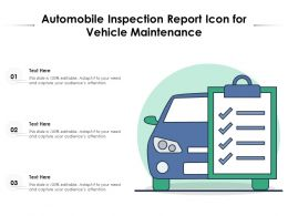 Automobile Inspection Report Icon For Vehicle Maintenance