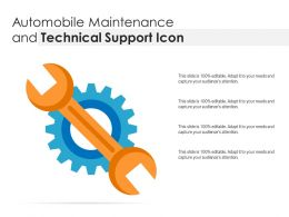 Automobile Maintenance And Technical Support Icon