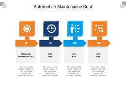 Automobile Maintenance Cost Ppt Powerpoint Presentation Gallery Grid Cpb
