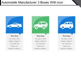 Automobile Manufacturer 3 Boxes With Icon