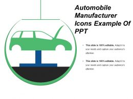 Automobile Manufacturer Icons Example Of Ppt