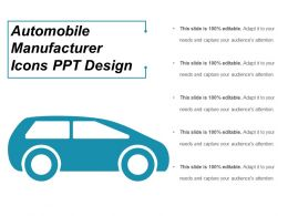 Automobile Manufacturer Icons Ppt Design