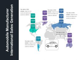 Automobile Manufacturer International Sales Generation