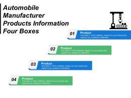 Automobile Manufacturer Products Information Four Boxes