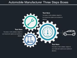 Automobile Manufacturer Three Steps Boxes
