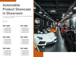 Automobile Product Showcase In Showroom