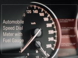 Automobile Speed Dial Meter With Fuel Gauge