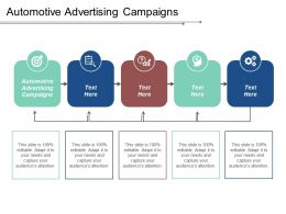 Automotive Advertising Campaigns Ppt Powerpoint Presentation Gallery Example Cpb