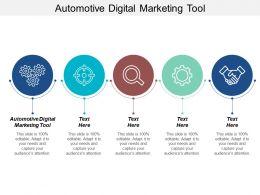 Automotive Digital Marketing Tool Ppt Powerpoint Presentation File Background Designs Cpb