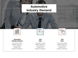 Automotive Industry Demand Ppt Powerpoint Presentation Inspiration Outline Cpb