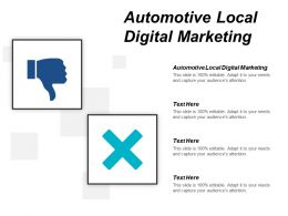 Automotive Local Digital Marketing Ppt Powerpoint Presentation File Background Image Cpb