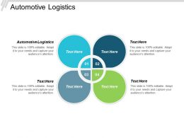 Automotive Logistics Ppt Powerpoint Presentation Pictures Portfolio Cpb