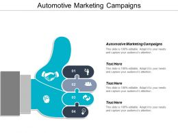 Automotive Marketing Campaigns Ppt Powerpoint Presentation Gallery Layout Cpb