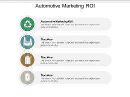 Automotive Marketing ROI Ppt Powerpoint Presentation Icon Graphics Example Cpb