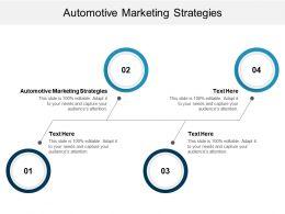 Automotive Marketing Strategies Ppt Powerpoint Presentation Diagram Templates Cpb