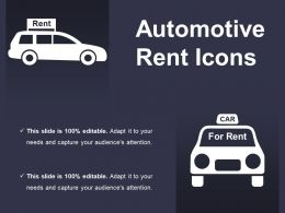 Automotive Rent Icons