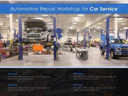 Automotive Repair Workshop For Car Service