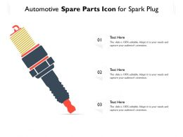 Automotive Spare Parts Icon For Spark Plug