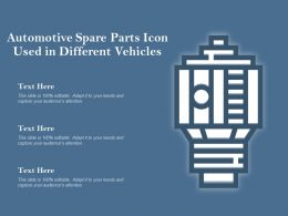 Automotive Spare Parts Icon Used In Different Vehicles